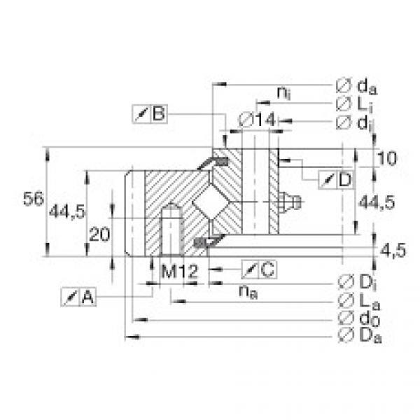 Crossed roller bearings - XSA140844-N #1 image