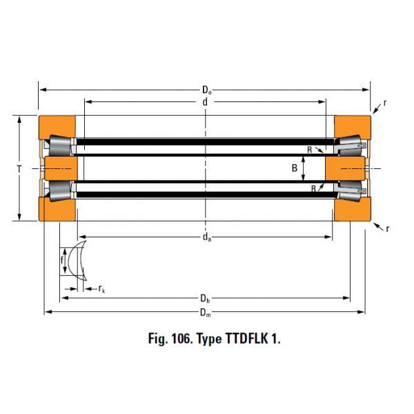 Bearing T8110 Thrust Race Single #1 image