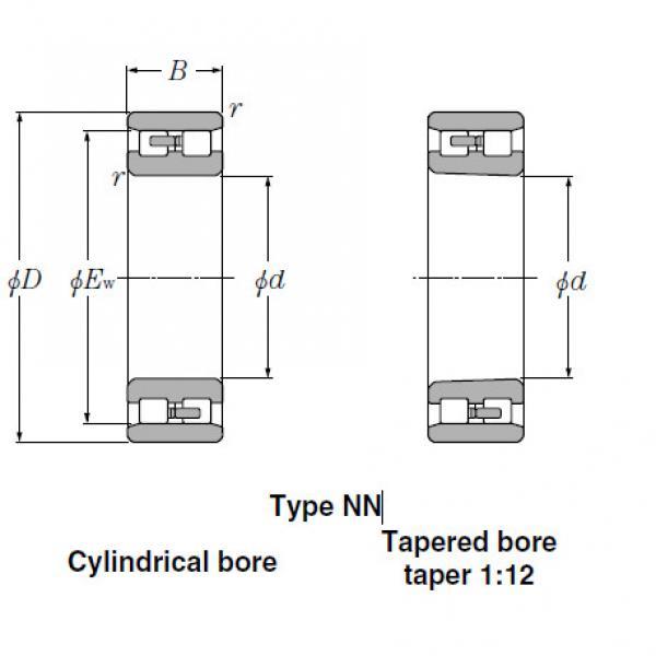 Bearings Cylindrical Roller Bearings NN3032 #2 image