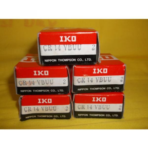 "10 IKO Cam Followers # CR14VBUU - 1/2"" face x 7/8"" dia. - NEW in box #1 image"