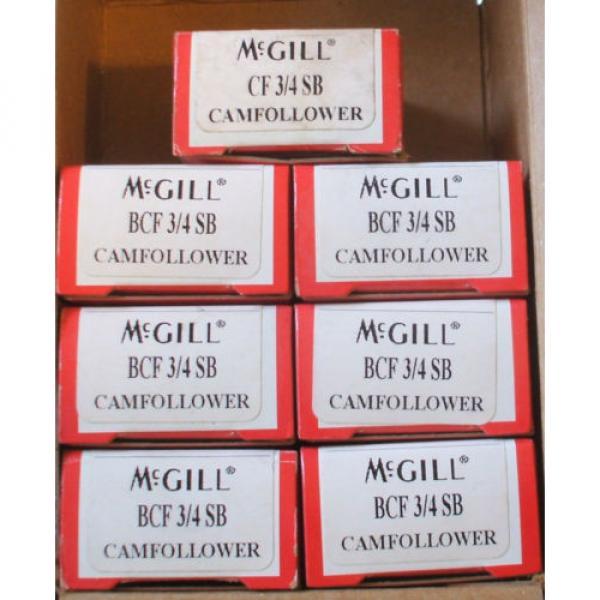 Lot 7 BEARING MCGILL BCF-3/4 CAM FOLLOWER Free Shipping #1 image
