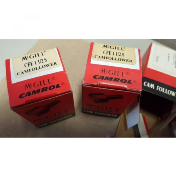 LOT OF 4, McGILL New Cam Followers, CFE 1-1/2S, New In Box #1 image