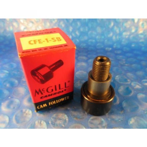 "McGill CFE 1 SB Stud Cam Follower, 1"" Roller Diameter, Hex Hole End #1 image"