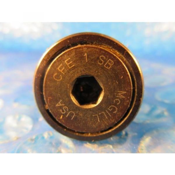 "McGill CFE 1 SB Stud Cam Follower, 1"" Roller Diameter, Hex Hole End #3 image"