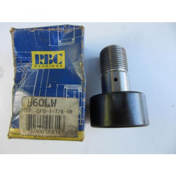 RBC H60LW Cam Follower CFH-1-7/8-SB NEW!!! Free Shipping #1 image