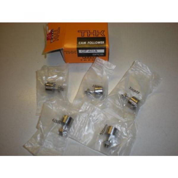 Lot of (5) THK Model CF4MA Cam Follower Bearings - NIB #1 image