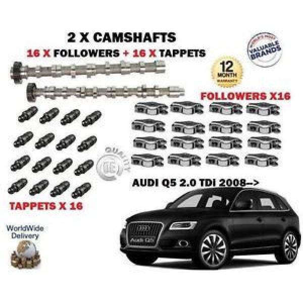 FO AUDI Q5 2.0 TDi 2011-> NEW 2X CAMSHAFT CAM SET + 16 x FOLLOWERS + 16x TAPPETS #1 image