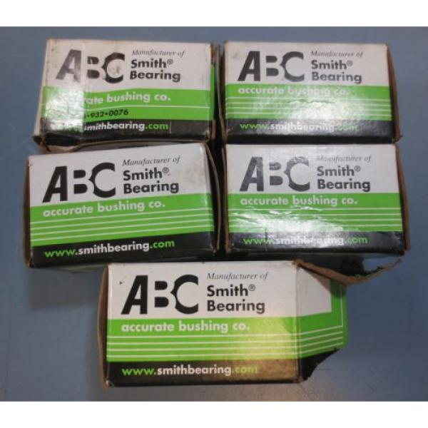 Lot of 5 Accurate Bushing Co Smith Bearing Cam Follower Model CR-5/8-XB New #1 image