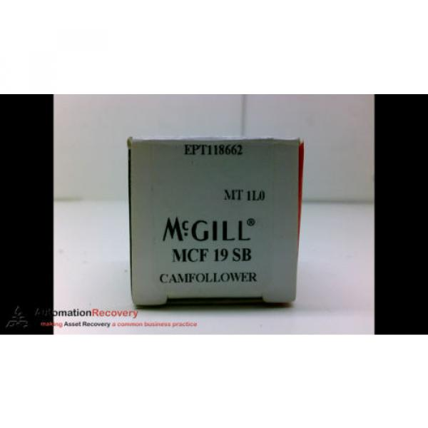 MCGILL MCF 19 SB CAM FOLLOWER, 19MM OD, NEW #196140 #4 image